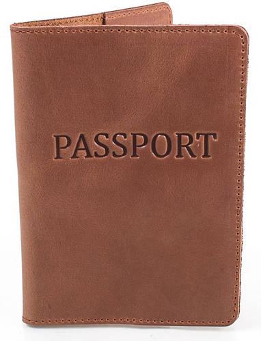 Обложка для паспорта прочная женская из кожи DNK LEATHER DNK-Pasport-Hcol.N коричневый