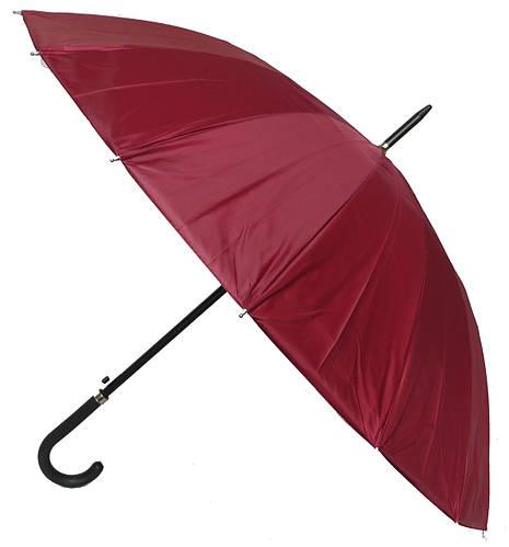 Зонт-трость полуавтоматический мужской Paul Rossi 290061 (бордовый).