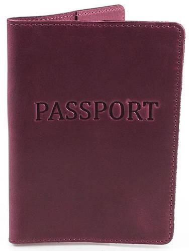 Обложка для паспорта кожаная женская DNK LEATHER DNK-Pasport-Hcol.L темно фиолетовый