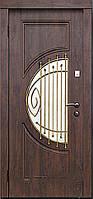 Двери входные со стеклом Адамант серия Премиум Каскад