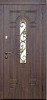 Двери входные со стеклом Лиана серия ЭЛИТ Каскад