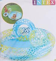 Детский надувной бассейн с кругом и мячом Intex