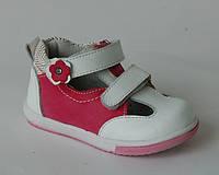Туфли мокасины для девочек Calorie арт. A1338-03A малиново-белый (Размеры: 21-26)
