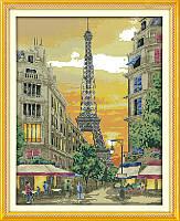 Закат в Париже Набор для вышивки с нанесенным рисунком на канве