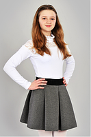 Серая школьная юбка для девочки