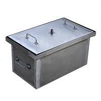 Коптильня из стали с гидрозатвором: 52*31*28 см, металл 2 мм, 2 уровня