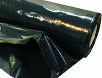 """Пленка черная""""Союз Планета Пластик"""", полиэтиленовая (для мульчи, строительная) 150 мкм,6х50м"""