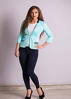 Женский голубой пиджак