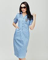 Платье из рубашечной ткани