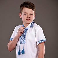 Рубашка для мальчика на короткий рукав с воротничком