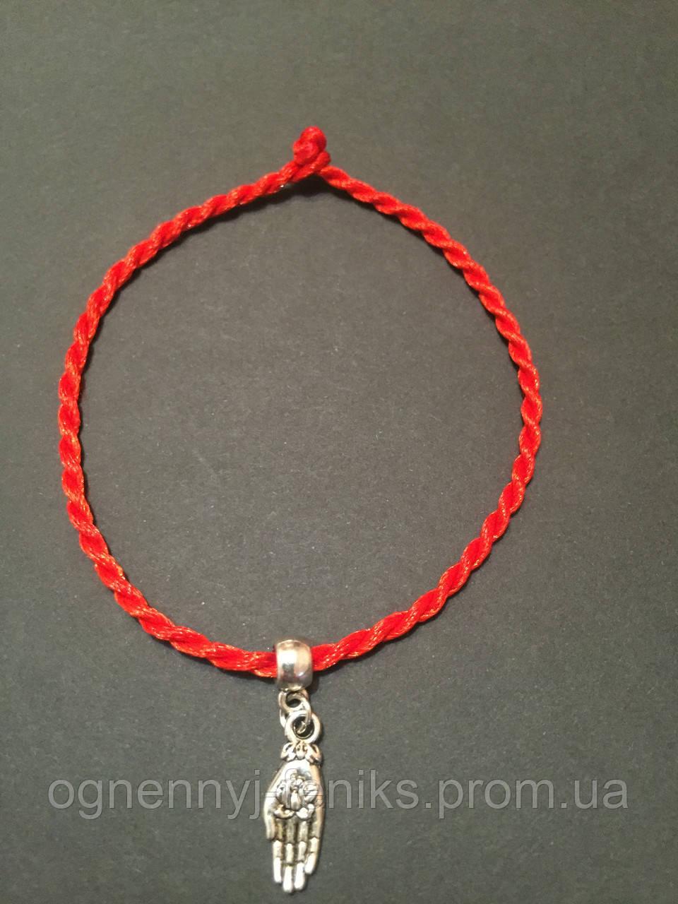Как сделать себе оберег на руку из красной нитки
