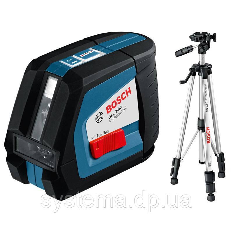 Нивелир Bosch GLL 2-50 + BM1 новый + LR2 в L-Boxx 0.601.063.109