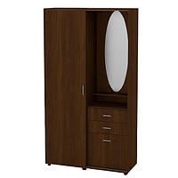 Прихожая венге со шкафчиком, тумбой, зеркалом и крючками для вещей