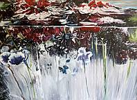 «Цветы во льду» картина маслом
