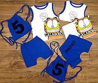 """Летний комплект для мальчиков """"LalaBobo"""" с шортами, рост от 86 до 116 см"""