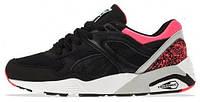 Женские кроссовки Puma Trinomic R698 (Пума Триномик) черные