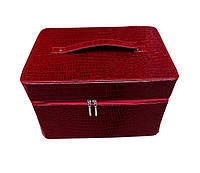 Чемодан / сумка для мастера  маникюра, визажиста, парикмахера, вместительная, легкая и стильная.Бардо