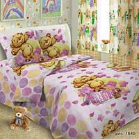 Набор детского постельного белья в кроватку ( бязь) Мишка