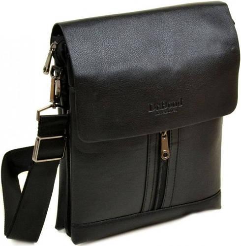 Вместительная мужская сумка-планшет из искусственной кожи dr.Bond 88282-4 black, черный