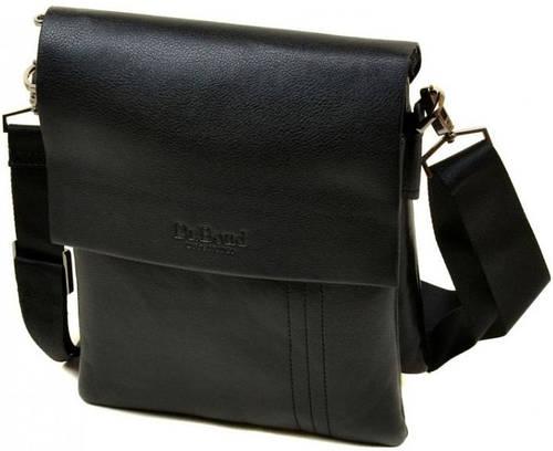 Мужская удобная сумка-планшет из искусственной кожи dr.Bond 88334-4 black, черный