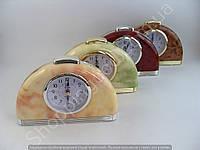 Настольные часы будильник Pearl 114165 полукруглые с подсветкой арабские цифры шаговый ход разные цвета