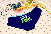 Трусики/Слипы Love Pink Victoria's Secret, синие