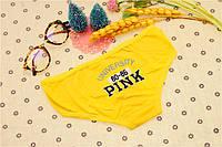 Трусики/Слипы Love Pink Victoria's Secret, желтые