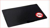 Антискользящий силиконовый коврик на торпедо NO SMOKING