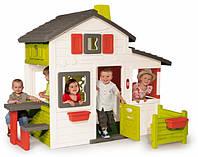 Большой детский дом с чердаком и звонком Friends House Smoby 310209