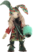 Текстильная каркасная кукла Зайчиха мама К 1033