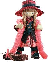 Текстильная каркасная кукла Шоколадница мама К 1035