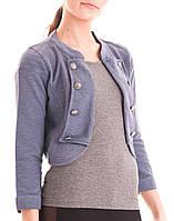 Женский укроченный пиджак в голубом цвете Barbara Jacket Blue Shadow  от Minimum (Дания) в размере S