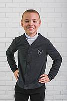 Кофта для мальчика темно-серая, фото 1