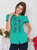 Блуза офисная со сборками