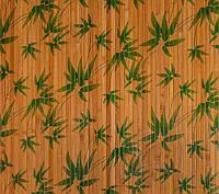 """Бамбуковые обои """"листья бамбука зеленые"""", ширина 150 см"""