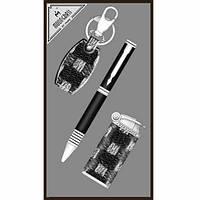 Подарочный набор шариковая ручка, брелок металлический, зажигалка форсунка.