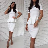 Костюм женский летний деловой костюм Белый