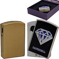 USB зажигалка электронная с алмазом