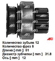 Бендикс (привод) стартера для Nissan Interstar 1.9 DCi. Ниссан Интерстар. На стартер Mitsubischi. SD5020 - AS.