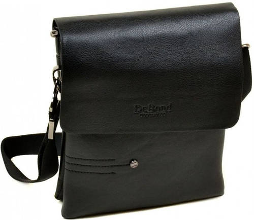 Эффектная мужская вместительная сумка планшет из искусственной кожи dr.Bond 88359-4 black, черный