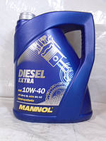 Полусинтетическое масло Mannol Diesel Extra 10W-40 CH-4 5л