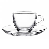 Набор для чая из безцветного стекла