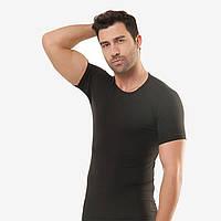 Чёрная мужская футболка Elegant, Турция