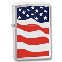 Бензиновая зажигалка Zippo 24375 AMERICAN FLAG (Американский флаг).