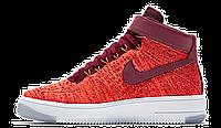 Женские кроссовки Nike Air Force (найк аир форс высокие) красные