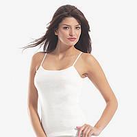 Модная белая майка женская  Oztas.