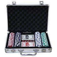 Набор подарочный покерный кейс на 200 фишек