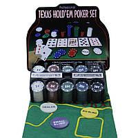 Покерный набор 200 фишек в железной коробке.