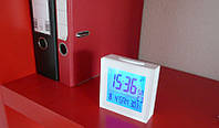Электронные цифровые часы термометр будильник 3501