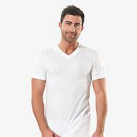 Турецкая мужская футболка белая кулирка, мыс.